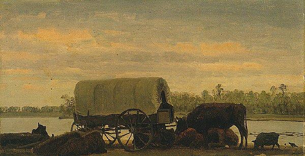 Nooning on the Platte   Albert Bierstadt   oil painting