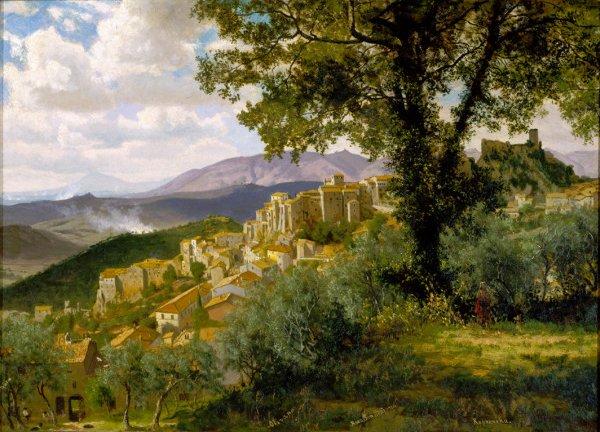 Olevano | Albert Bierstadt | oil painting