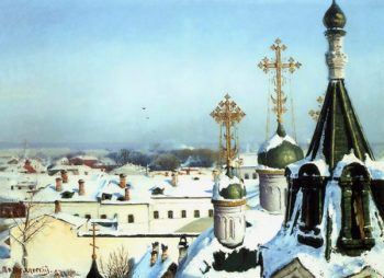 View from a Window of the Moscow School of Painting 1878   Sergey Svetoslavsky   oil painting