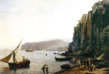 The Small Bay in Sorrento near Naples 1820s | Sylvester Shchedrin | oil painting