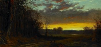 Twilight in the Wilderness | Alfred T. Bricher | oil painting