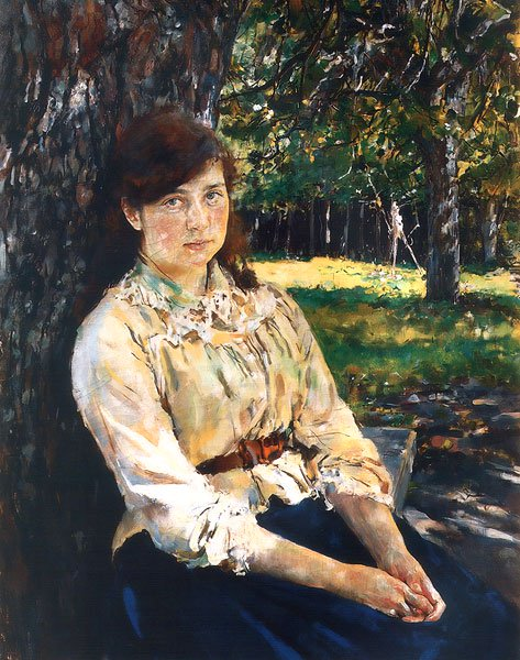 Girl in the Sunlight | Valentin Serov | oil painting