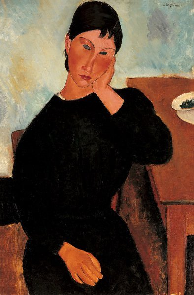 Elvira Resting at a Table | Amedeo Modigliani | oil painting