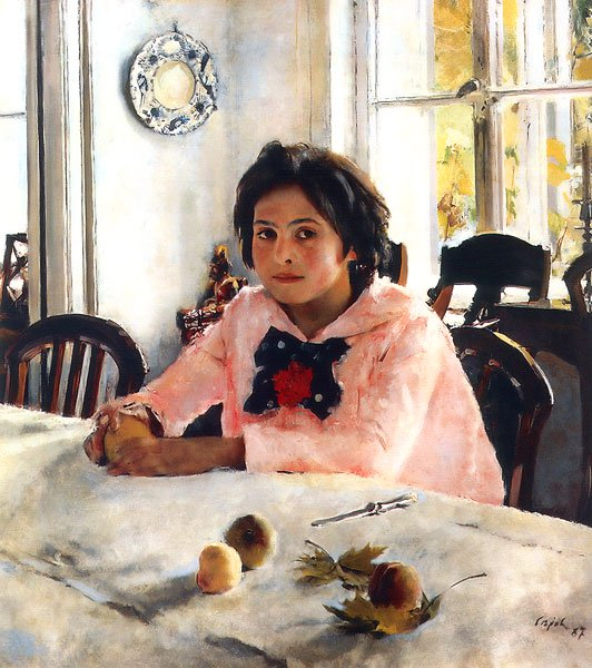 Girl with Peaches | Valentin Serov | oil painting