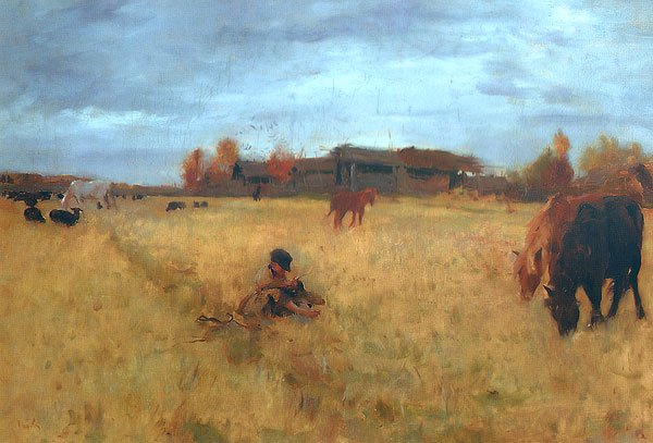 October Domotkanovo 1895 | Valentin Serov | oil painting