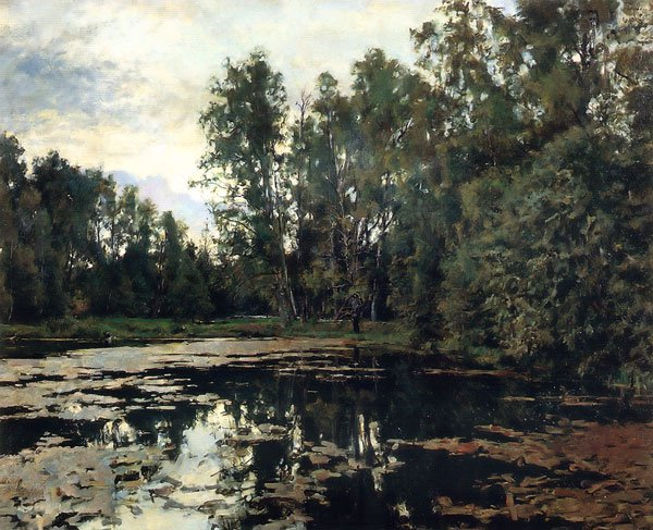 Overgrown Pond Domotkanovo 1888 | Valentin Serov | oil painting
