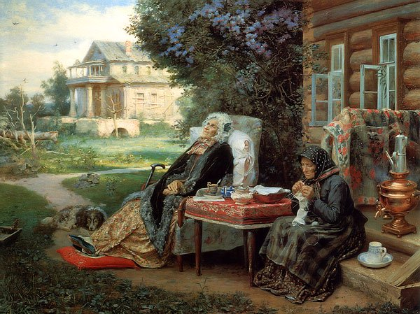 Everything in The Past 1889 | Vasily Maximov | oil painting