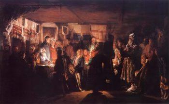 Sorcerer Visiting Peasants' Wedding 1875 | Vasily Maximov | oil painting