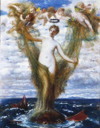 Venus Anadyomene | Arnold Bocklin | oil painting