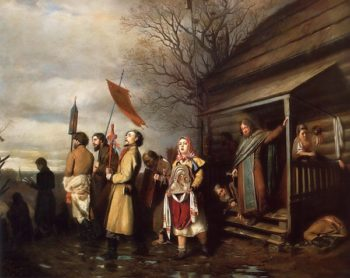 Religious Procession in the Village on Easter 1861 | Vasily Perov | oil painting