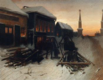 The Last Tavern by the Town Gates 1868 | Vasily Perov | oil painting