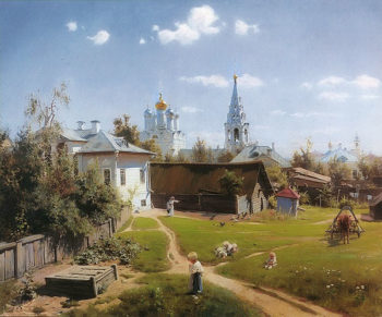 A Moscow Yard 1878 | Vasily Polenov | oil painting