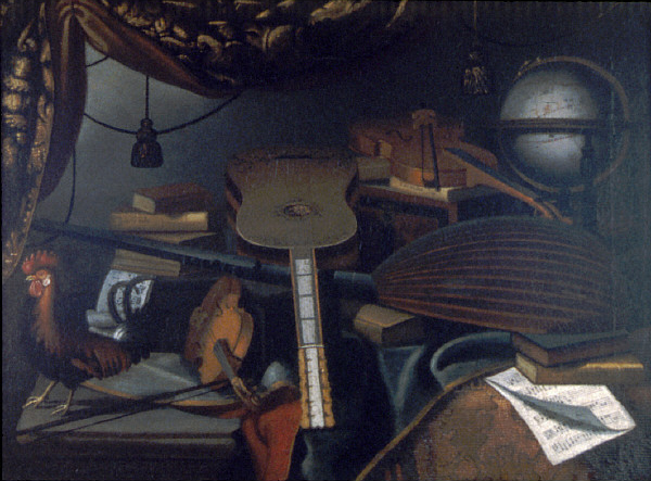 Still Life with Musical Instruments | Bartolomeo Bettera | oil painting