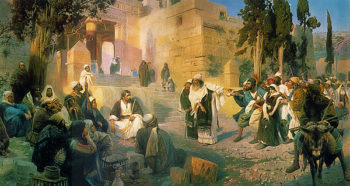Christ and the Sinner 1887 | Vasily Polenov | oil painting