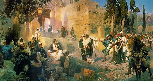 Christ and the Sinner 1887 | Vasily Polenov | oil painting