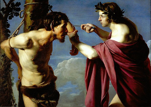 Apollo and Marsyas | Bartolomeo Manfredi | oil painting
