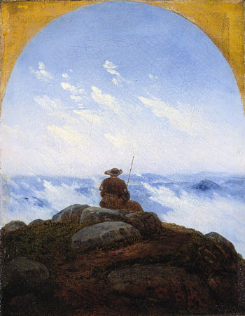 Wanderer on the Mountaintop | Carl Gustav Carus | oil painting