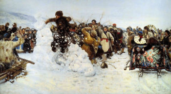 Taking of a Snow Fort 1891 | Vasily Surikov | oil painting