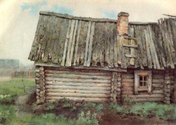 The Log Cabin 1885 1887 | Vasily Surikov | oil painting