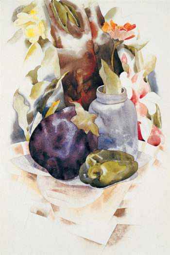 Eggplant and Green Pepper | Charles Demuth | oil painting