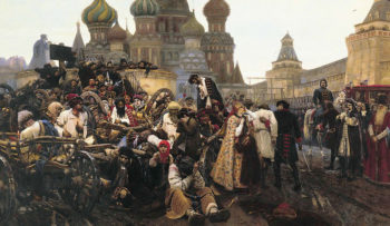The Morning of the Execution of the Streltsy 1881 | Vasily Surikov | oil painting