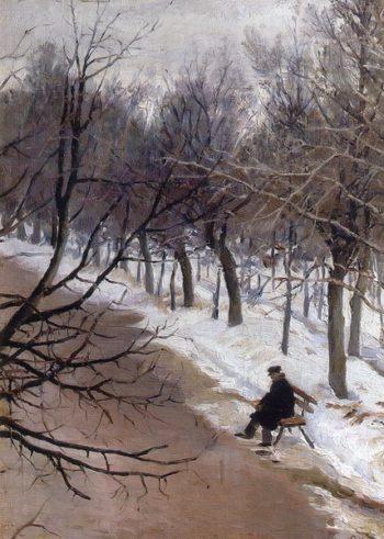 Zubovsky Boulevard in the Winter 1885 1887 | Vasily Surikov | oil painting
