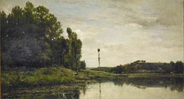 Banks of the Oise | Charles Francois Daubigny | oil painting