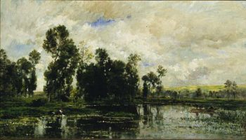 The Edge of the Pond | Charles Francois Daubigny | oil painting