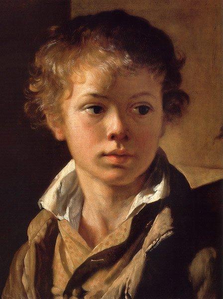 Arseny Tropinin The Painter's son 1818 | Vasily Tropinin | oil painting