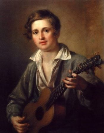 The Guitarist 1823 | Vasily Tropinin | oil painting