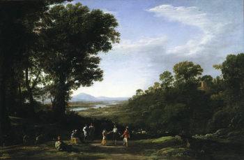 Villagers Dancing | Claude Lorrain | oil painting