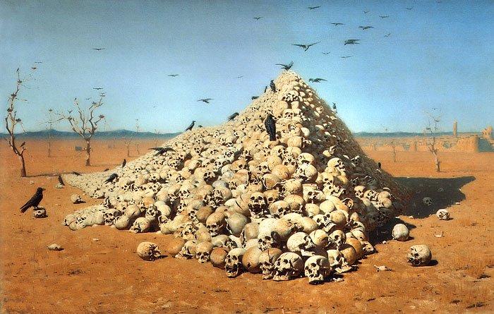 Apotheosis of War 1871 | Vasily Vereschagin | oil painting