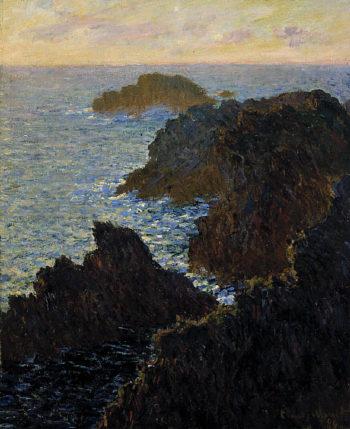 Rocks at Belle Isle Port Domois | Claude Monet | oil painting