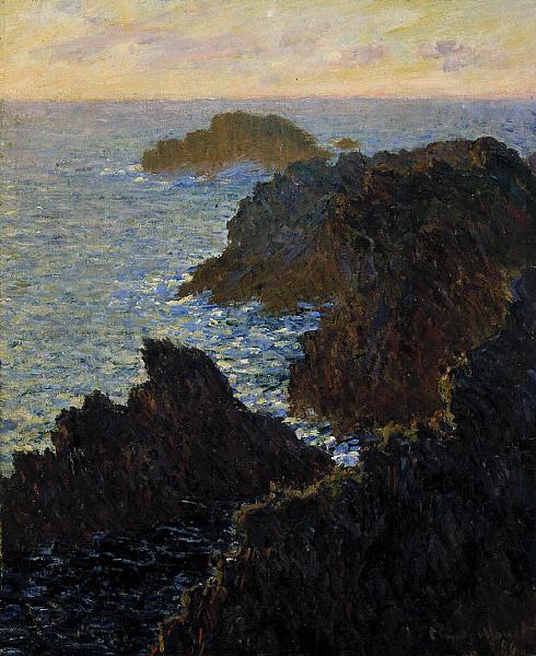 Rocks at Belle Isle Port Domois   Claude Monet   oil painting
