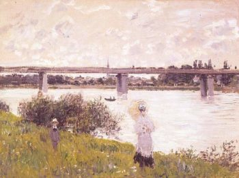The Promenade with the Railroad Bridge Argenteuil | Claude Monet | oil painting