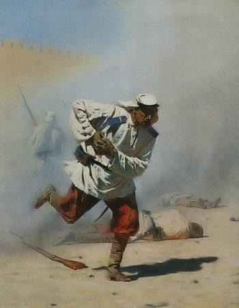 Mortally Wounded 1873 | Vasily Vereschagin | oil painting