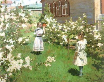May Blossoms 1894 | Victor Borisov Musatov | oil painting