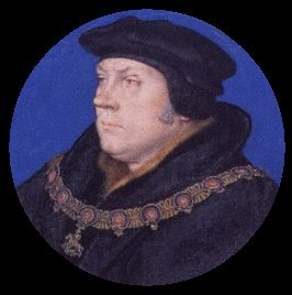 Thomas Cromwell portrait miniature wearing garter collar after Hans Holbein the Younger | Unknown Artist | oil painting