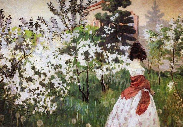 Spring 1901 | Victor Borisov Musatov | oil painting