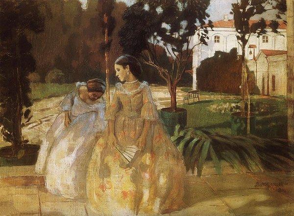 The Gobelin 1901 | Victor Borisov Musatov | oil painting
