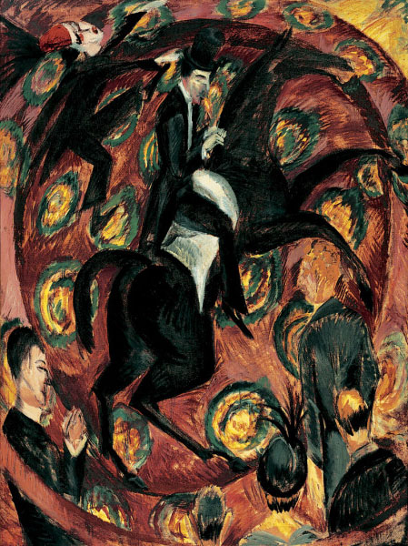 Circus Rider | Ernst Ludwig Kirchner | oil painting