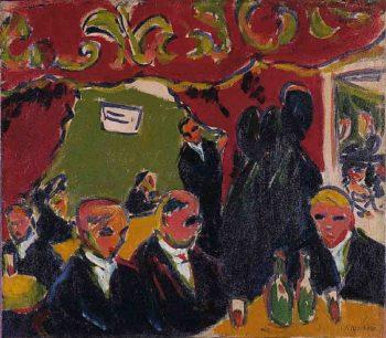Tavern | Ernst Ludwig Kirchner | oil painting