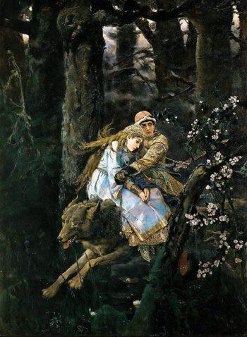 Prince Ivan Riding Gray Wolf 1889 | Victor Vasnetsov | oil painting