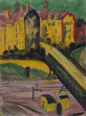 View from the Window | Ernst Ludwig Kirchner | oil painting