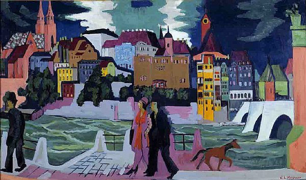View of Basel and the Rhine | Ernst Ludwig Kirchner | oil painting