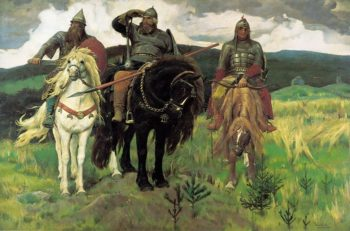 The Bogatyrs 1898 | Victor Vasnetsov | oil painting