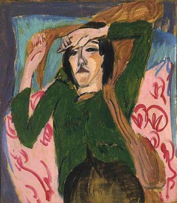 Woman in a Green Blouse | Ernst Ludwig Kirchner | oil painting