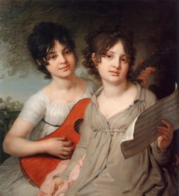 Portrait of Gagarin Sisters 1802 | Vladimir Borovikovsky | oil painting