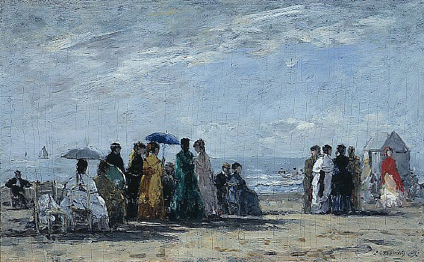 The Beach at Trouville | Eugene Boudin | oil painting