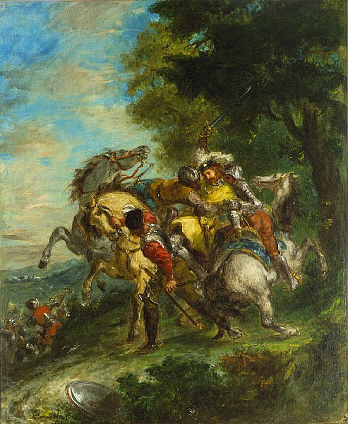 Weislingen Captured | Eugene Delacroix | oil painting